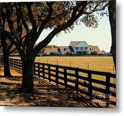 Southfork Ranch - Across The Pasture Metal Print