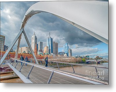 Southgate Bridge Metal Print