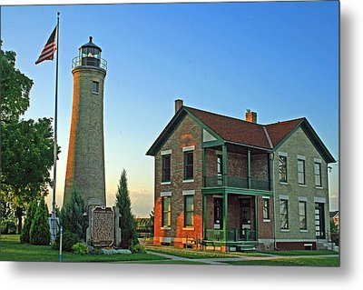 Metal Print featuring the photograph Southport Lighthouse On Simmons Island by Kay Novy