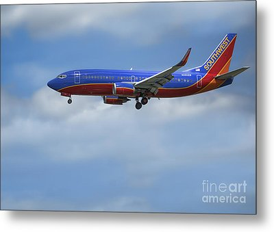 Southwest Airlines Jet Metal Print by D Wallace