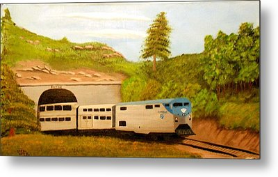 Southwest Chief At Raton Pass Metal Print