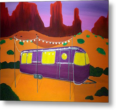 Southwest Contemporary Art - Sedona Twilight Metal Print by Karyn Robinson