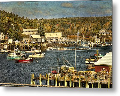 Southwest Harbor Metal Print by Cindi Ressler