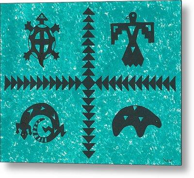 Southwest Symbols Metal Print