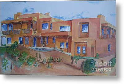 Southwestern Home Illustration Metal Print by Eric  Schiabor