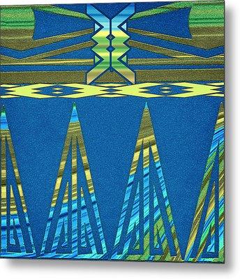 Southwestern Pattern Abstract Metal Print
