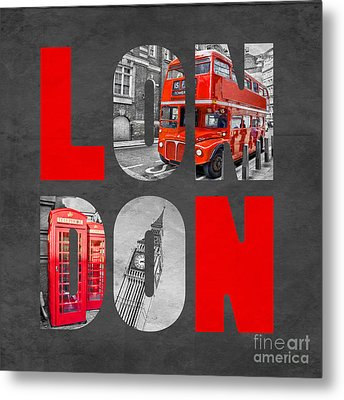 Souvenir Of London Metal Print by Delphimages Photo Creations