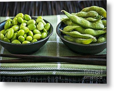 Soy Beans In Bowls Metal Print by Elena Elisseeva