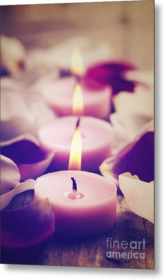 Spa Candles Metal Print by Jelena Jovanovic