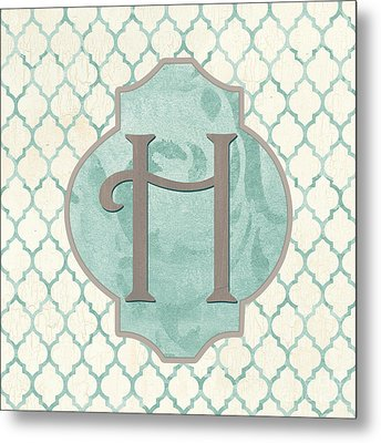 Spa Monogram Metal Print by Debbie DeWitt