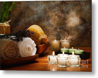 Spa Treatment Metal Print by Olivier Le Queinec