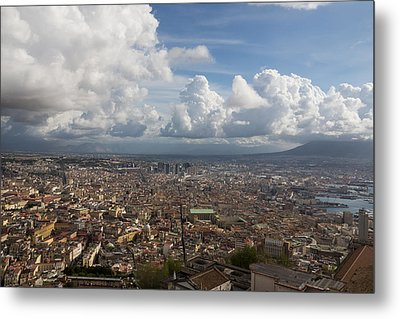 Spaccanapoli - The Historic Main Street That Divides The Center Of Naples Italy Metal Print