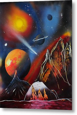 Space 016 Metal Print by Frank Carter
