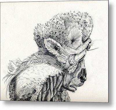 Space Alien Metal Print by Whistler Kenworthy