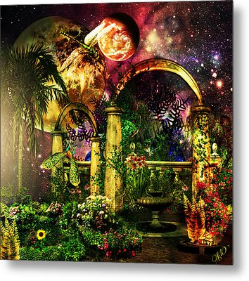 Space Garden Metal Print by Ally  White
