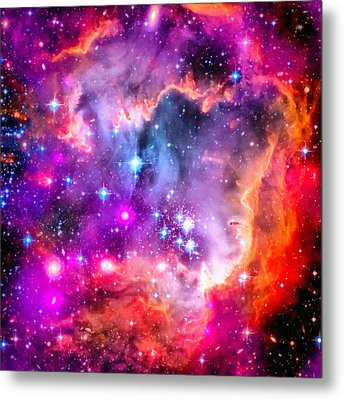 Space Image Small Magellanic Cloud Smc Galaxy Metal Print