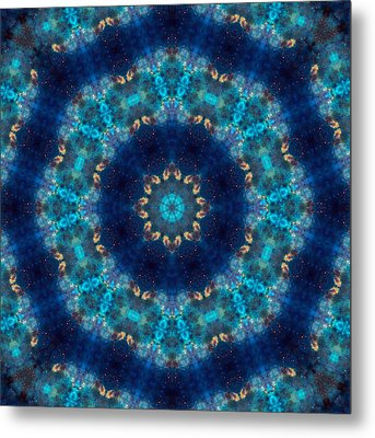 Space Kaleidoscope Metal Print