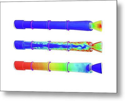 Space Launch System Simulations Metal Print