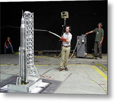 Space Launch System Testing Metal Print