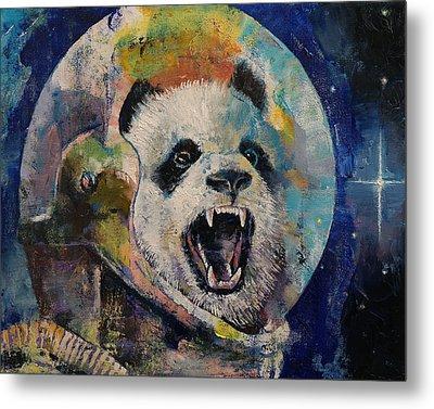 Space Panda Metal Print