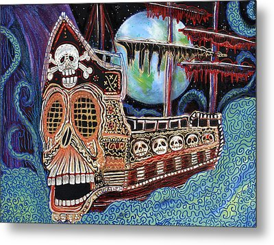 Space Pirates Metal Print by Laura Barbosa