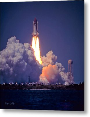 Space Shuttle Challenger Sts-6 First Flight 1983 Photo 1  Metal Print by Marie Hicks