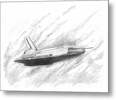 Space Shuttle Enterprise Metal Print by Michael Penny