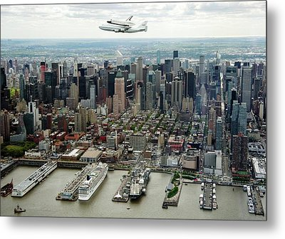 Space Shuttle Enterprise Piggyback Flight Metal Print by Nasa/robert Markowitz
