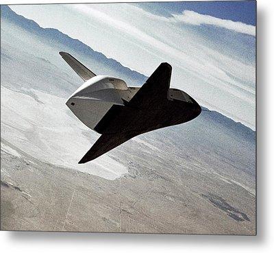 Space Shuttle Enterprise Test Flight Metal Print