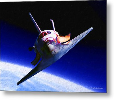 Space Shuttle Head On Metal Print by Douglas Castleman