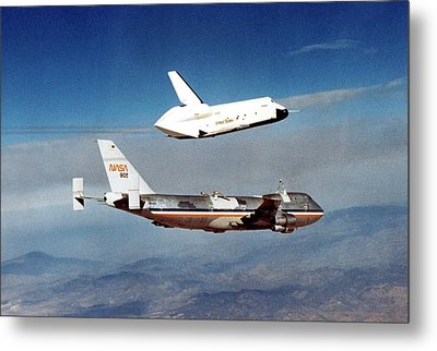 Space Shuttle Prototype Testing Metal Print by Nasa