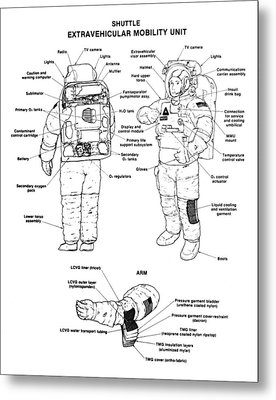 Space: Spacesuit, 1991 Metal Print