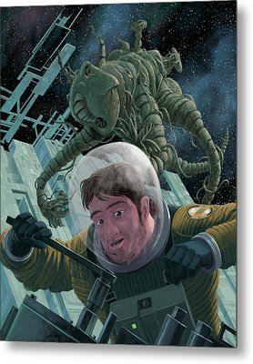 Space Station Monster Metal Print by Martin Davey