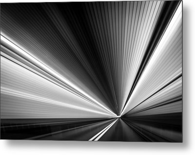 Space-time Continuum Metal Print by Mihai Andritoiu