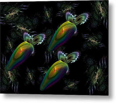 Space Trio Metal Print by Ricky Kendall