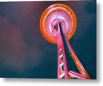 Spaced Needle Metal Print by Michael Wilcox