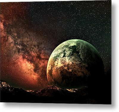 Spaced Out Metal Print by Ally  White
