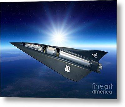 Spaceliner Transport, Artwork Metal Print by Detlev Van Ravenswaay