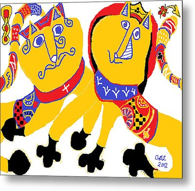 Spades And Clubs Metal Print by Anita Dale Livaditis