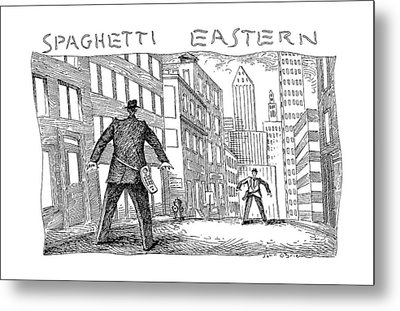 Spaghetti Eastern Metal Print by John O'Brien