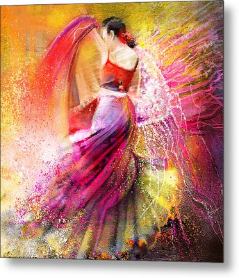Spain - Flamencoscape 12 Metal Print