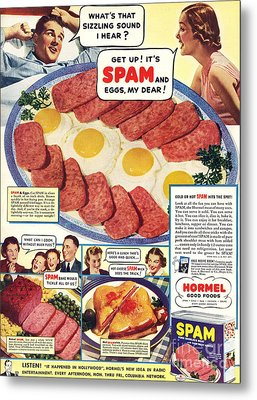 Spam 1960s Usa Hormel Meat Tinned Metal Print by The Advertising Archives