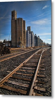 Spangle Grain Elevator Color Metal Print