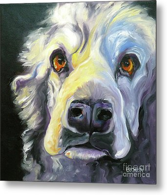 Spaniel In Thought Metal Print by Susan A Becker