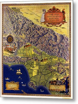 Spanish And Mexico Ranchos Metal Print by Pg Reproductions