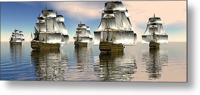 Metal Print featuring the digital art Spanish Armada by Claude McCoy