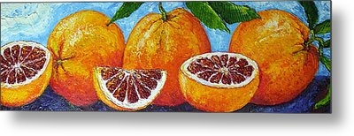 Spanish Blood Oranges Metal Print by Paris Wyatt Llanso