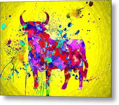 Spanish Bull Metal Print by Daniel Janda