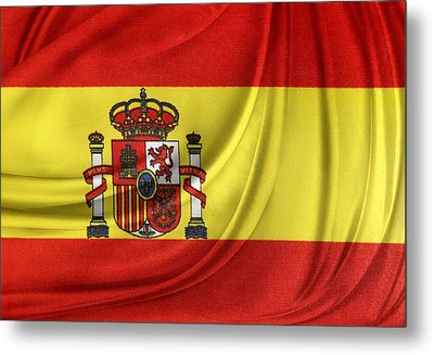 Spanish Flag Metal Print by Les Cunliffe