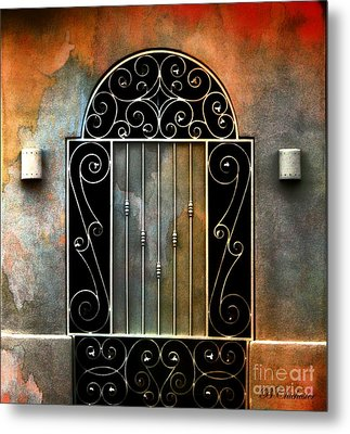 Spanish Influence Metal Print by Barbara Chichester